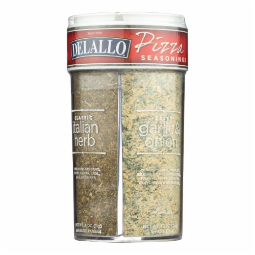 Deallo Pizza Seasonings  - Case of 12 - 3.2 OZ Perspective: front