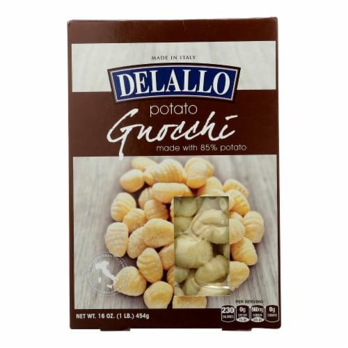 Delallo - Potato Gnocchi - Case of 12 - 1 lb. Perspective: front