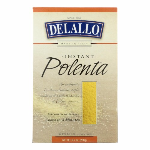 Delallo Instant Polenta  - Case of 12 - 9.2 OZ Perspective: front