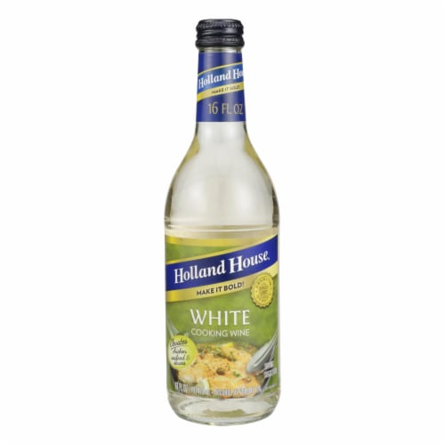Holland House White Cooking Wine - White - Case of 12 - 16 Fl oz. Perspective: front