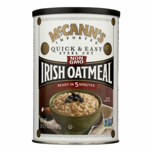 McCann's Irish Oatmeal Quick and Easy Steel Cut - Case of 12 - 24 oz. Perspective: front