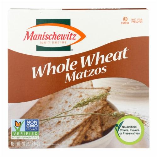 Manischewitz - Whole Wheat Matzo - Case of 12 - 10 oz. Perspective: front