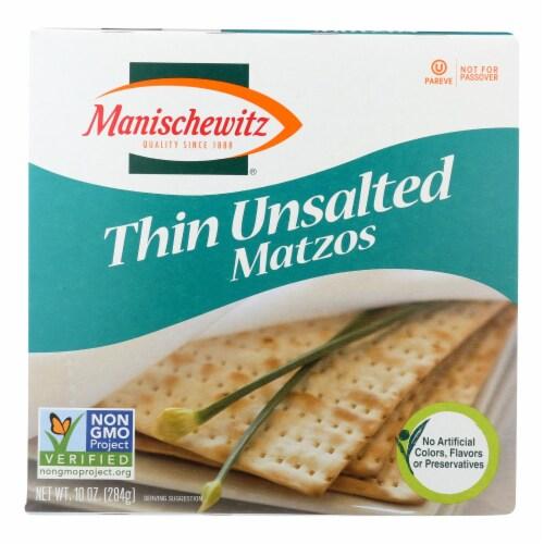 Manischewitz - Thin Tea Matzo - Case of 12 - 10 oz. Perspective: front