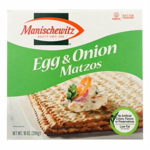 Manischewitz - Matzo Egg and Onion - Case of 12 - 10 oz. Perspective: front