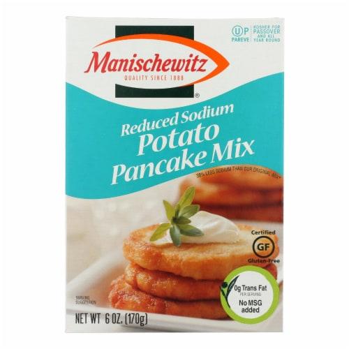 Manischewitz - Reduced Sodium Potato Pancake Mix - Case of 12 - 6 oz. Perspective: front