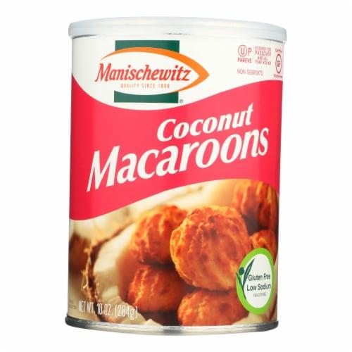 Manischewitz - Macaroon Coconut Kosher for Passover - Case of 12-10 OZ Perspective: front