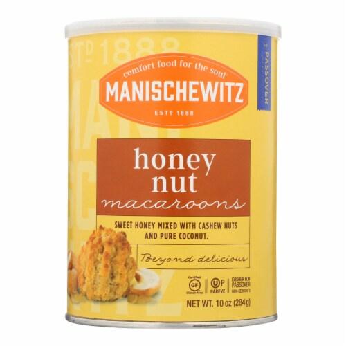 Manischewitz - Macaroon Honey Nut Kosher for Passover - Case of 12-10 OZ Perspective: front