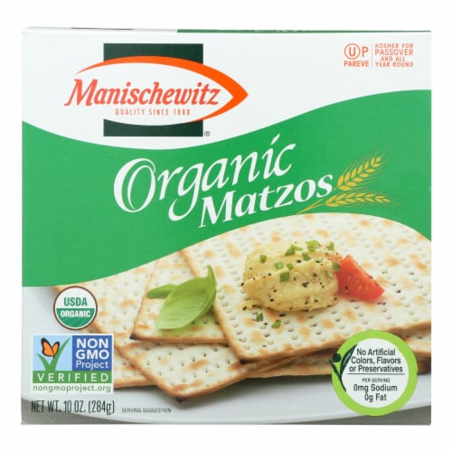 Manischewitz - Organic Matzo - Case of 12 - 10 oz Perspective: front