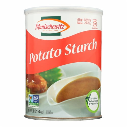 Manischewitz - Potato Starch Canister - Case of 12 - 16 oz. Perspective: front