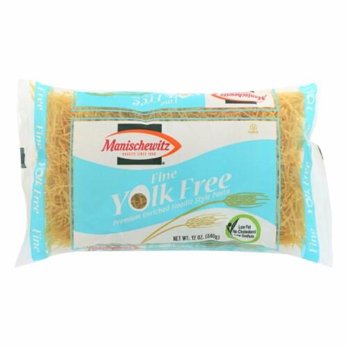 Manischewitz - Yolk Free Fine Noodles - Case of 12 - 12 oz. Perspective: front