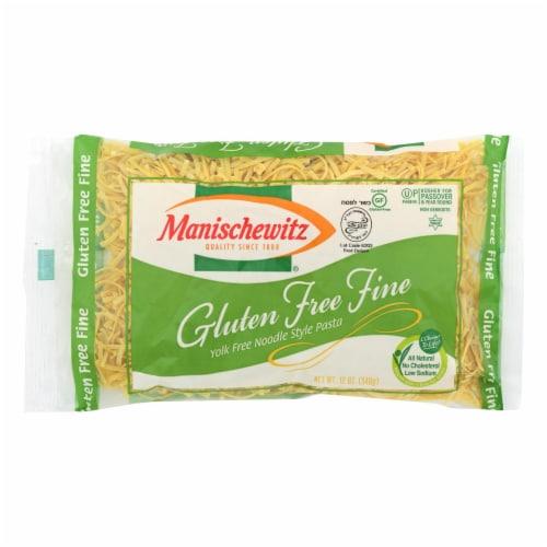 Manischewitz Gluten Free Fine Egg Noodles  - Case of 12 - 12 OZ Perspective: front