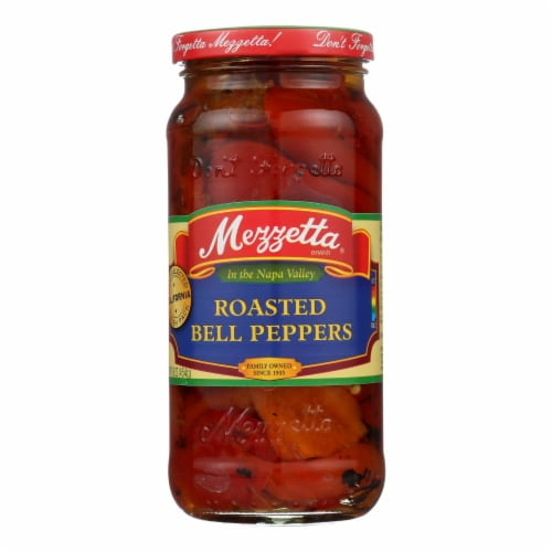 Mezzetta Roasted Bell Peppers - Case of 6 - 16 oz. Perspective: front
