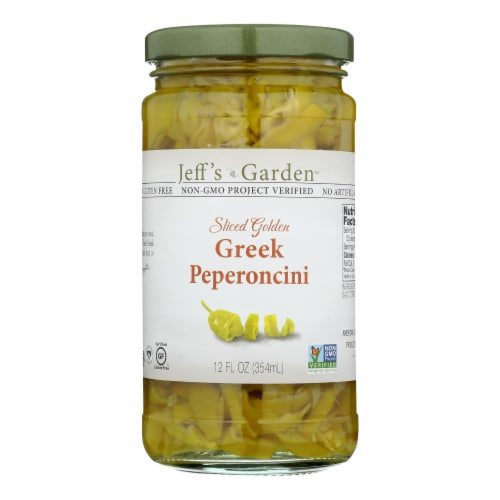Jeff's Natural Jeff's Natural Greek Pepperoncini - Greek Pepperoncini - Case of 6 - 12 oz. Perspective: front