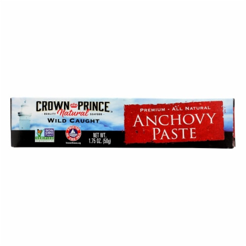 Crown Prince Anchovy Paste - Case of 12 - 1.75 oz. Perspective: front