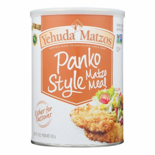 Yehuda Matzo Meal - Panko Style - Case of 12 - 15 oz Perspective: front