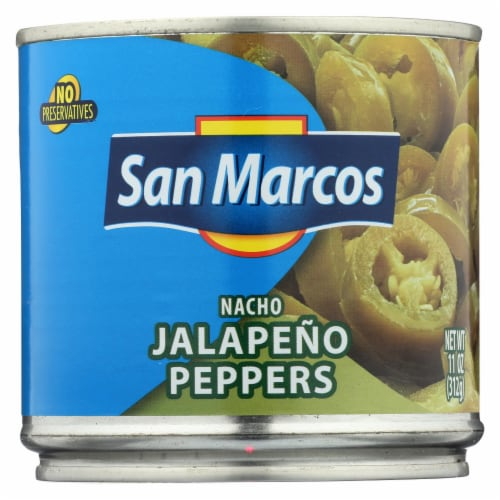San Marcos Peppers - Nacho Jalapeno - Case of 12 - 11 oz Perspective: front