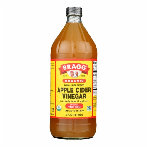 Bragg - Apple Cider Vinegar - Organic - Raw - Unfiltered - 32 oz - case of 12 Perspective: front