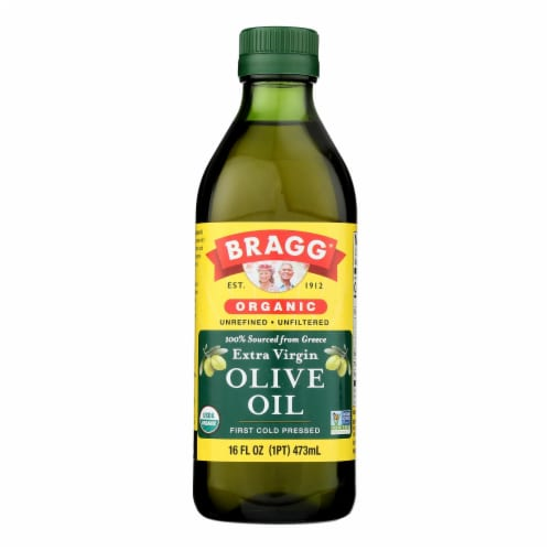 Bragg - Olive Oil - Organic - Extra Virgin - 16 oz - 1 each Perspective: front