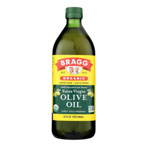 Bragg - Olive Oil - Organic - Extra Virgin - 32 oz - case of 12 Perspective: front