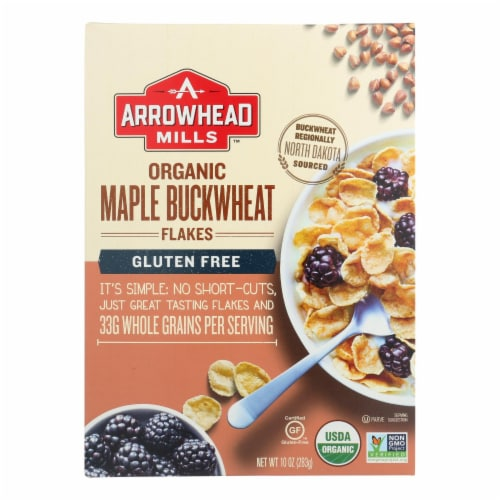 Arrowhead Mills - Cereal - Maple Buckwheat Flakes - Case of 6 - 10 oz. Perspective: front