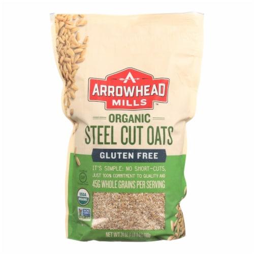 Arrowhead Mills - Oats - Steel Cut - Gluten Free - Case of 6 - 24 oz Perspective: front