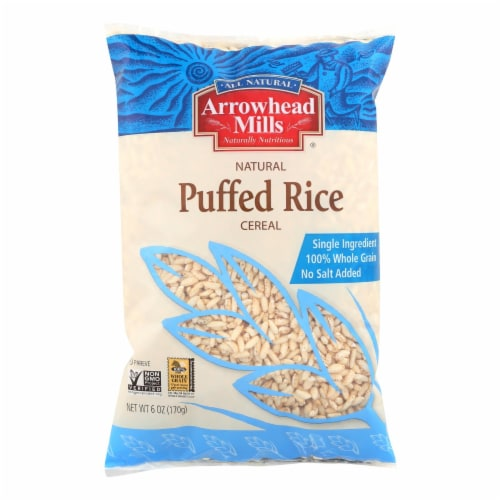 Arrowhead Mills - All Natural Puffed Rice Cereal - Case of 12 - 6 oz. Perspective: front