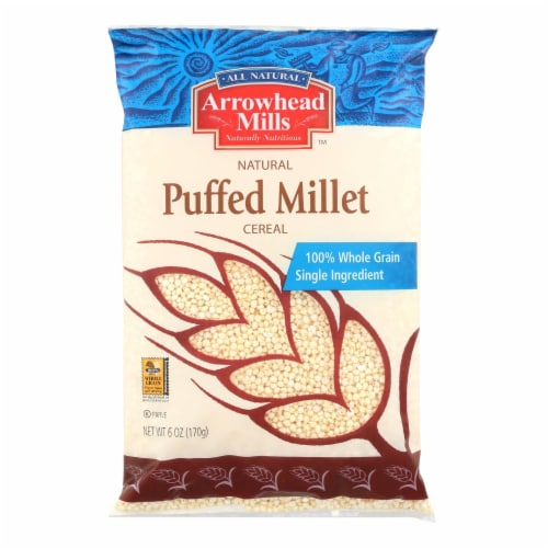 Arrowhead Mills - All Natural Puffed Millet Cereal - Case of 12 - 6 oz. Perspective: front