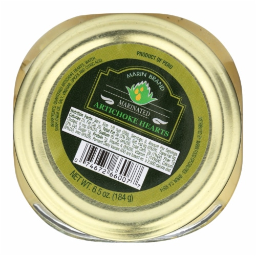 Marin Food Specialties Marinated Artichoke Hearts - Case of 12 - 6 oz. Perspective: front