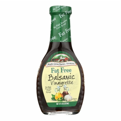 Maple Grove Farms - Fat Free Salad Dressing - Balsamic Vinaigrette - Case of 12 - 8 oz. Perspective: front