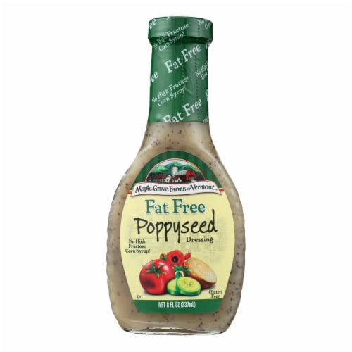 Maple Grove Farms - Fat Free Salad Dressing - Poppyseed - Case of 12 - 8 oz. Perspective: front