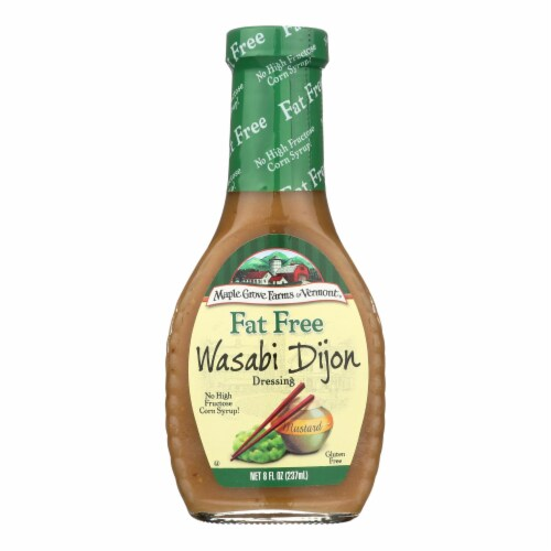 Maple Grove Farms - Fat Free Salad Dressing - Wasabi Dijon - Case of 12 - 8 oz. Perspective: front