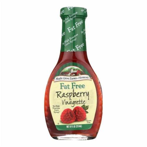 Maple Grove Farms - Fat Free Salad Dressing - Raspberry Vinaigrette - Case of 12 - 8 oz. Perspective: front
