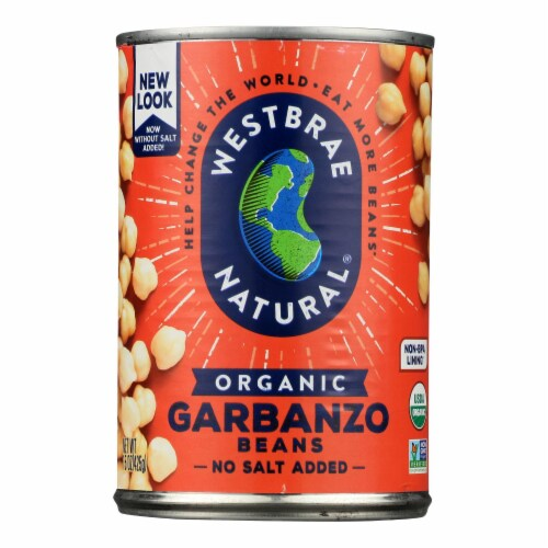 Westbrae Foods Organic Garbanzo Beans - Case of 12 - 15 oz. Perspective: front
