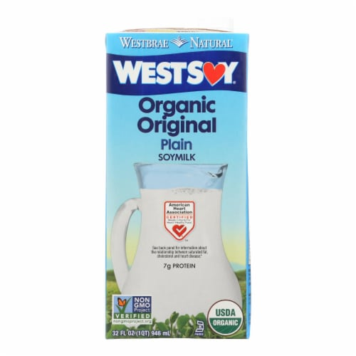 Westsoy Soy Milk - Original - Case of 12 - 32 Fl oz. Perspective: front