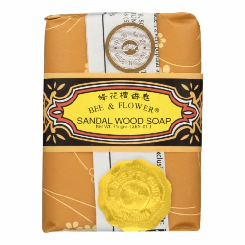 Bee and Flower Soap Sandalwood - 2.65 oz - Case of 12 Perspective: front