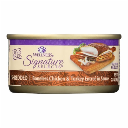 Wellness Pet Products Cat - Can - Turkey - Chicken - Signature Selects - Case of 12 - 2.8 oz Perspective: front