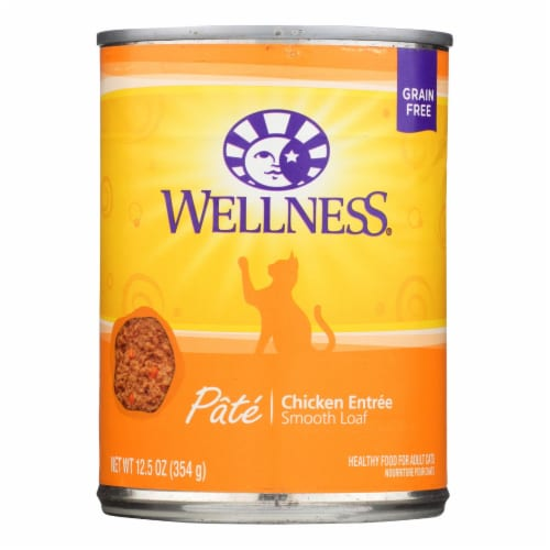 Wellness Pet Products Cat Food - Chicken Recipe - Case of 12 - 12.5 oz. Perspective: front