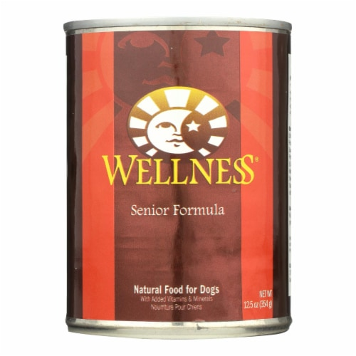 Wellness Pet Products Dog Food - Senior Recipe - Case of 12 - 12.5 oz. Perspective: front