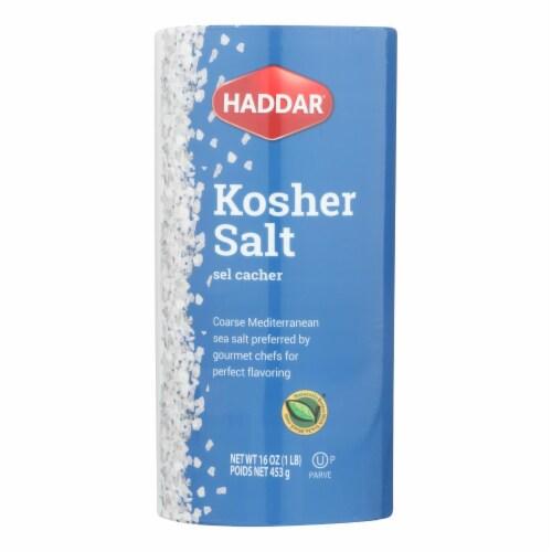 Haddar Salt - Kosher - Case of 12 - 16 oz Perspective: front