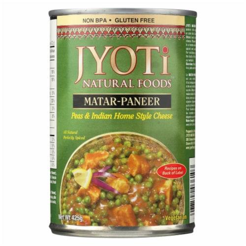 Jyoti Cuisine India Matar Paneer - Case of 12 - 15 oz. Perspective: front