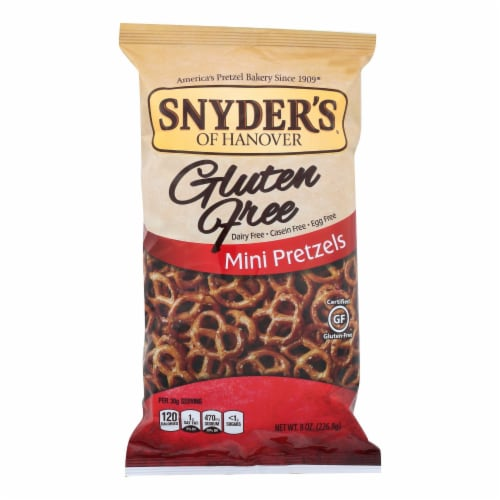 Snyder's of Hanover Mini Pretzels - Gluten Free - Case of 12 - 8 oz. Perspective: front