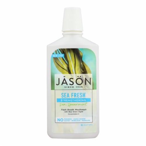 Jason Sea Fresh Biologically Active Mouthwash Deep Sea Spearmint - 16 fl oz Perspective: front