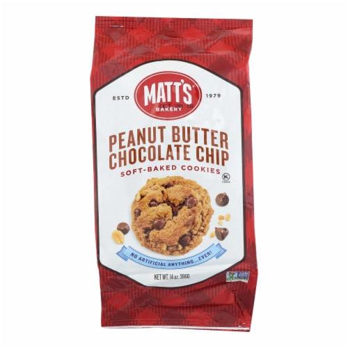 Matt's Cookies - Cookies Peanut Butter Chocolate Chip - Case of 6 - 14 OZ Perspective: front