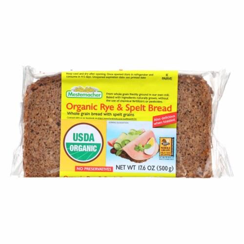 Mestemacher Natural Rye n Spelt Bread - Whole Grain Bread w Unripe Spelt Grains-12Case-17.6oz Perspective: front