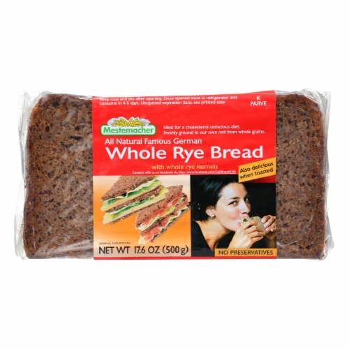 Mestemacher Bread Bread - Rye - Whole - 17.6 oz - case of 12 Perspective: front