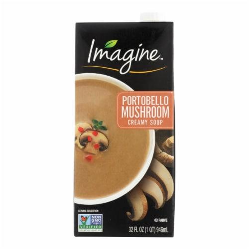 Imagine Foods Portobello Mushroom Soup - Creamy - Case of 12 - 32 Fl oz. Perspective: front