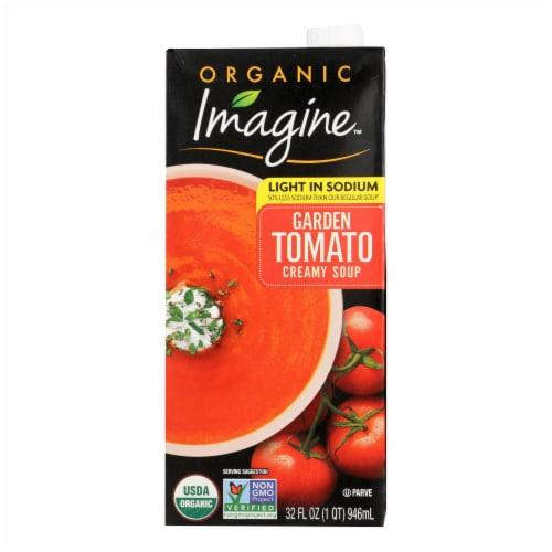 Imagine Foods Garden Tomato Soup - Low Sodium - Case of 12 - 32 Fl oz. Perspective: front