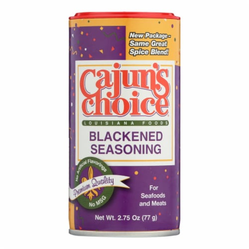 Cajuns Choice Blackened Seasoning  - Case of 12 - 2.75 OZ Perspective: front