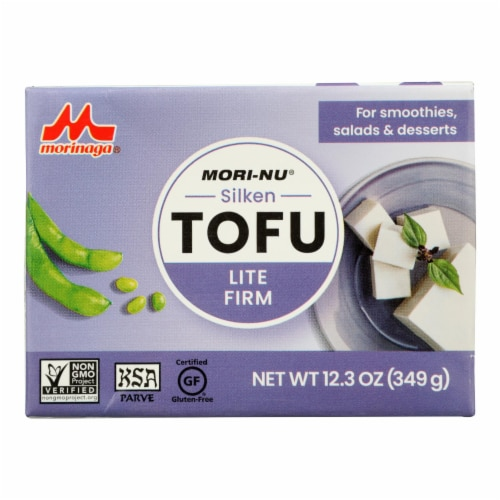Mori-Nu Silken Tofu - Lite Firm - Case of 12 - 12.3 oz. Perspective: front