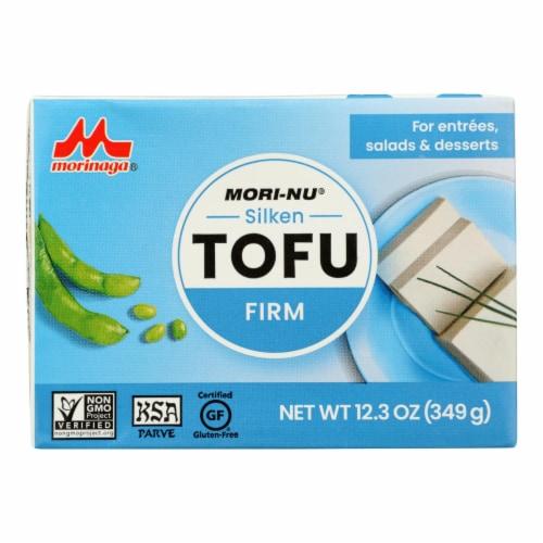 Mori-Nu Silken Tofu - Firm - Case of 12 - 12.3 oz. Perspective: front